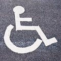 Parking spot for the disabled Stock Image