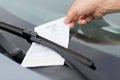 Parkovanie vstupenka na auto čelné sklo