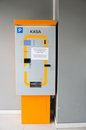 Parking ticket machine to pay Royalty Free Stock Photos