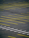 Parking vide grunge Photo libre de droits