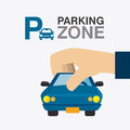 Parking zone graphic Royalty Free Stock Photo