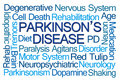 Parkinson's Disease Word Cloud Royalty Free Stock Photo