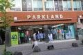 Parkland shop in jeju located south korea is a clothes retailer south korea Royalty Free Stock Photos