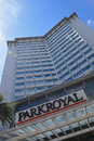 Parkroyal Hotel Building in Singapore at Kitchener Road managed by Pan Pacific Hotels Group Royalty Free Stock Photo