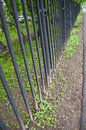 Parks iron fences black Stock Photos