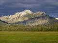 Parks peak in the sawtooth mountains idaho Royalty Free Stock Images