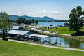 Parkway Marina, Huddleston, Virginia, USA Royalty Free Stock Photo