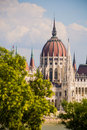 Parlament budapest hungarian parliament building from the other side of the danube Stock Images