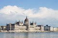 Parlament in Budapest with riverside Royalty Free Stock Photo