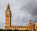 Parliament building and big ben london england the the clock tower Royalty Free Stock Image