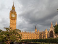 Parliament building and big ben london england the the clock tower Stock Photo