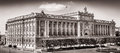 The parliament building in stockholm sweden in black and white as seen from royal castle Royalty Free Stock Photography