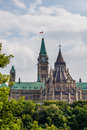 Parliament of canada canadian federal viewed from gatineau ottawa ontario Royalty Free Stock Photography