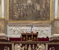 The parliament chamber of deputies at the assemblee nationale paris france during french heritage day in hotel de lassay Stock Photo