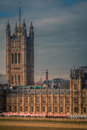 Parliament close up view of the in london photographed on a cloudy stormy afternoon Royalty Free Stock Photos