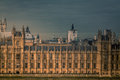 Parliament close up view of the in london photographed on a cloudy stormy afternoon Stock Photography
