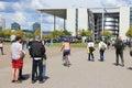 Parliament of germany berlin august people walk towards paul lobe haus part german bundestag in berlin berlin is s largest Royalty Free Stock Image