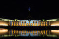 Parliament house canberra australia night shot of in Royalty Free Stock Photos