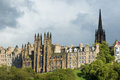 Parliment building in edinburgh on cloudy day Royalty Free Stock Image