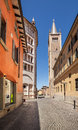 Parma, with the cathedral and its baptistery. Royalty Free Stock Photo