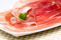 Parma ham italy meal in a restaurant Royalty Free Stock Image