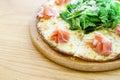 Parma ham pizza thin crispy Stock Photos