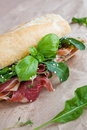 Parma ham sandwiches Royalty Free Stock Images