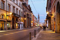 Parma italy december della repubblica street is the main central street in Stock Photos