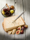 Parmesan cheese and figs Stock Image