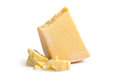 Parmesan cheese on white background Stock Image