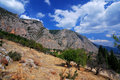 Parnassus Mountains at Delphi, Greece Royalty Free Stock Images