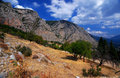 Parnassus Mountains at Delphi, Greece Royalty Free Stock Photography