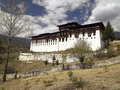 Paro dzong kingdom of bhutan monastery near the town in the Royalty Free Stock Photos