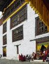 Paro tsechu kingdom of bhutan dzong during the Stock Image