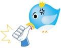 Parodiar social de la red - la mordedura del pájaro tiene gusto Imagen de archivo libre de regalías