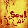 Parola di musica soul Immagine Stock Libera da Diritti