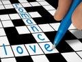 Parole incrociate - amore e romance Immagini Stock Libere da Diritti