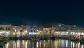 Paros greece august naoussa nightlife at paros island in greece Stock Photography