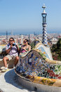 Parque Barcelona Catalunia Spain de Guell Fotografia de Stock Royalty Free