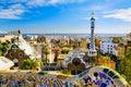 Parque Guell em Barcelona, Spain Fotos de Stock Royalty Free