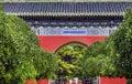 Parque rojo pekín china de la ciudad de temple of sun de la puerta Foto de archivo libre de regalías