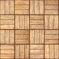 Parquet - realistic vector seamless texture Stock Photography