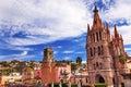 Parroquia Rafael Churches San Miguel de Allende Mexico Royalty Free Stock Photo