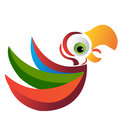 Parrot logo Royalty Free Stock Images