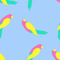 Parrot seamless pattern vector illustration on background Stock Photography