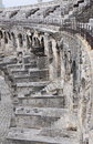 Part of Amphitheatre in city of Nimes, France Royalty Free Stock Photo