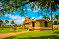 Part of architecture Hindu Temple dedicated to Shiva, fragment c Royalty Free Stock Photo
