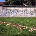 Part of Berlin Wall on Bernauer Straße, Mitte, Berlin, Germany Royalty Free Stock Photo