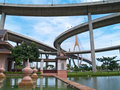 Part of Bhumibol Bridge Royalty Free Stock Images