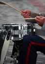 Part of body drummer playing on drum Royalty Free Stock Photo